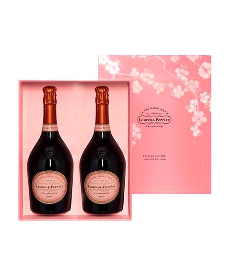 Laurent-Perrier Cuvee Rose Twin Pack Gift Box